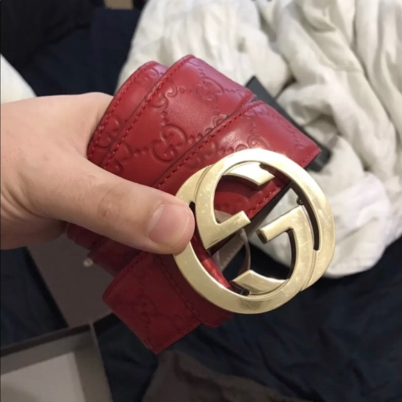ebec4d46ca2 Gucci Other - Mens Red Gucci belt for sale!